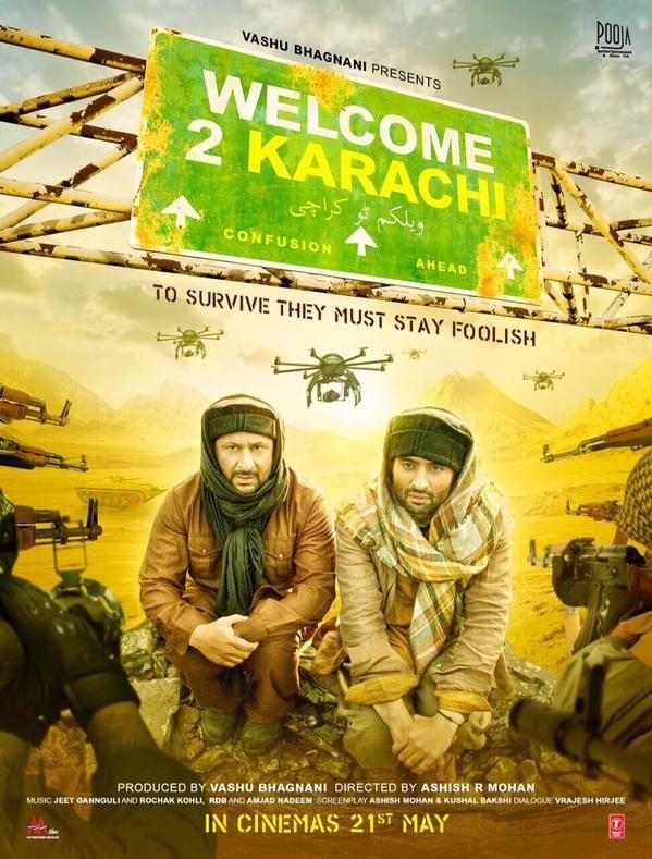 Welcome 2 Karachi Review Trailers Star Cast Jackky Bhagnani…. Kedar Arshad Warsi…. Shammi Lauren Gottlieb Imran Hasnee Director : Ashish R Mohan Producer : Vashu Bhagnani Music Director : Jeet Ganguly Rochak Kohli, Amjad Nadeem Genre : Comedy Release Date : 28 May 2015