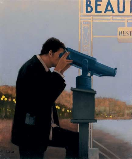 Jack Vettriano Jealous Heart Oil on canvas 24 x 20 inches