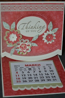 Easel calendar card for our local community craft show last week.