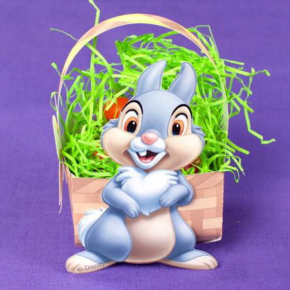 Thumper's Easter Basket (with printable) // Mini Toppancs nyuszis húsvéti kosarak (nyomtatható) // Mindy - craft tutorial collection