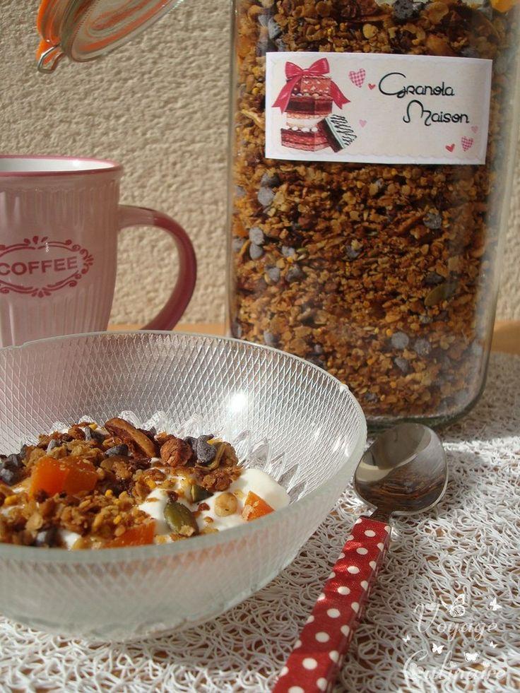Granola vanillé aux graines de courges, pollen et abricots secs