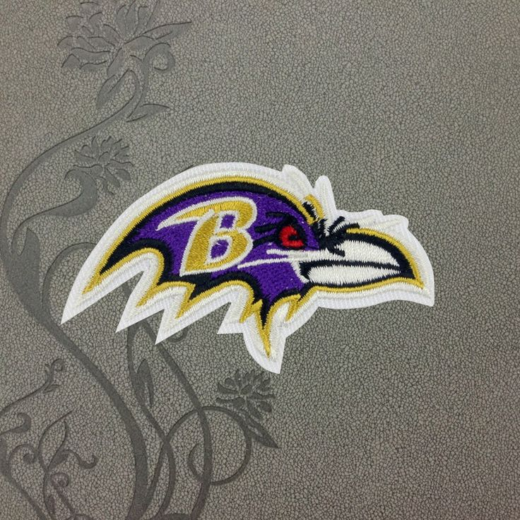 Baltimore Ravens team logo Iron on patch Iron on Applique hat patch bag patch Embroidered Iron-On Patches sew on patches
