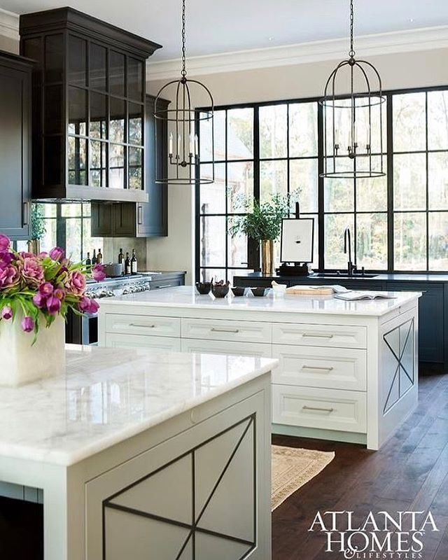 Just landed in Atlanta for market! This is one of my favorite kitchens from @atlantahomesmag by @harrisondesign.