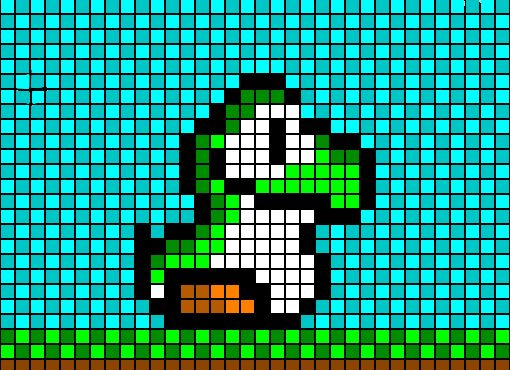 les 25 meilleures id es de la cat gorie yoshi pixel art sur pinterest crochet super mario. Black Bedroom Furniture Sets. Home Design Ideas