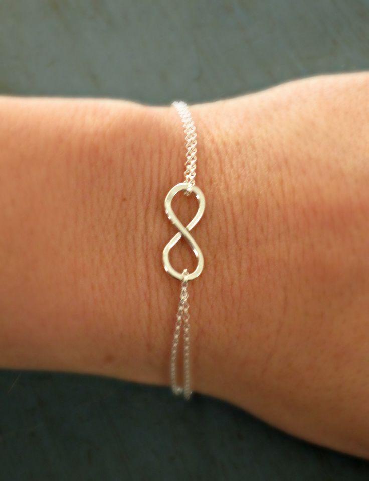 Sterling Silver Infinity Bracelet Simple Minimalist Jewelry Designer Inspired bridesmaid gifts. $18.50, via Etsy.