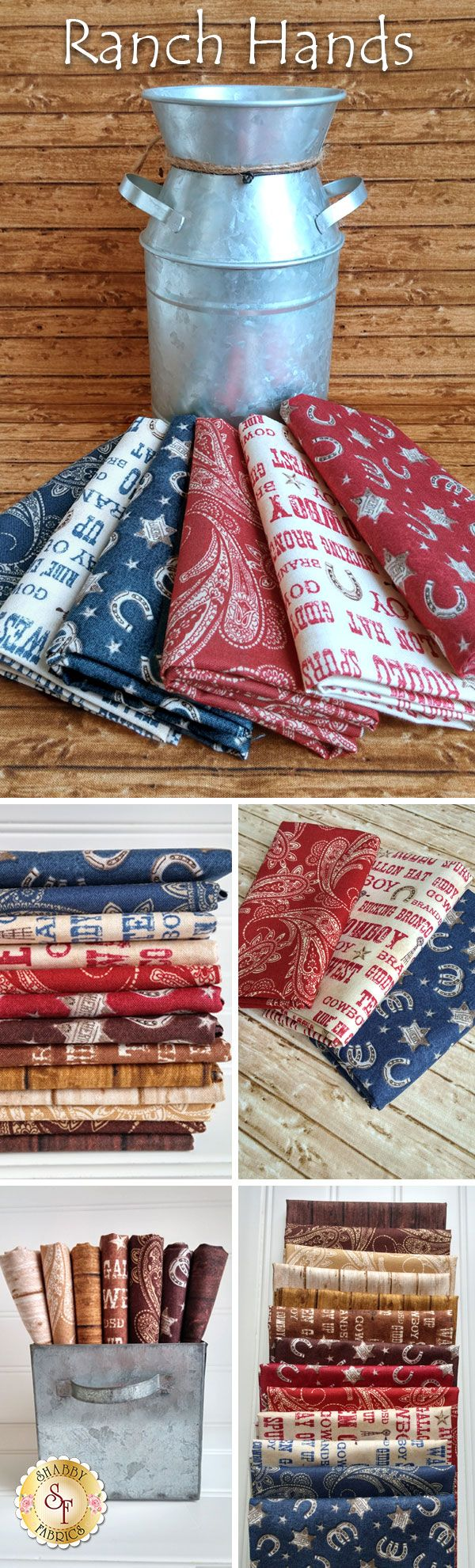 Ranch Hands by Whistler Studios for Windham Fabrics is a charming cowboy fabric collection available at Shabby Fabrics!