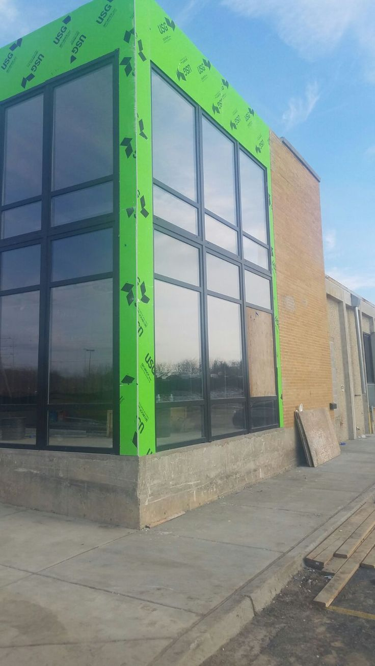 877 S. ROUTE 83, ELMHURST  Storefront by SWD, including installation. Profile SWD 88+, shapes 3, total quantity 3. Construction project realized by Bob DiCostanzo, RMD Construction, LLC.