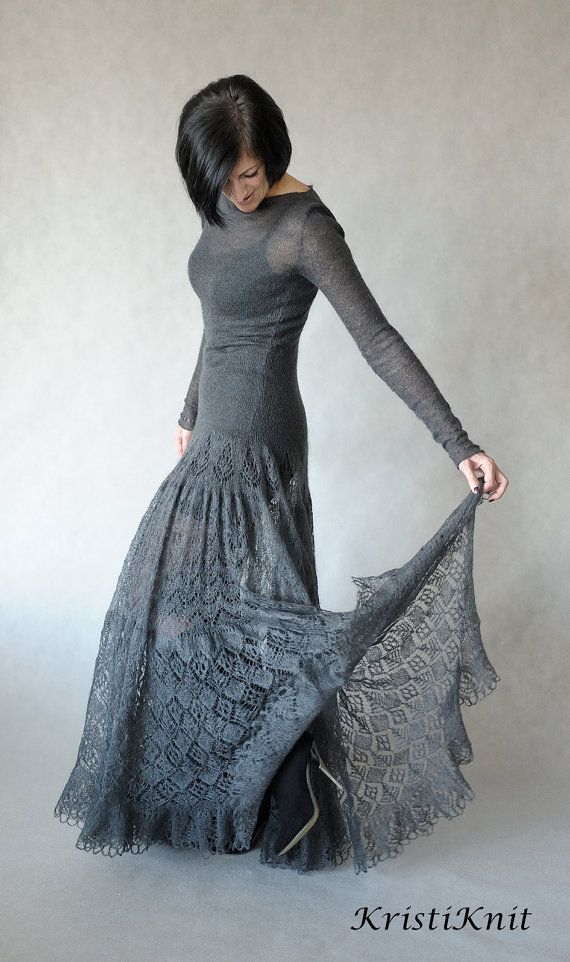 Hand knitted mohair dress by KristiKnit on Etsy