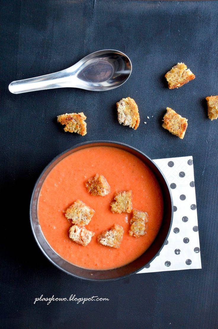 płaszkowo: krem z pieczonych pomidorów