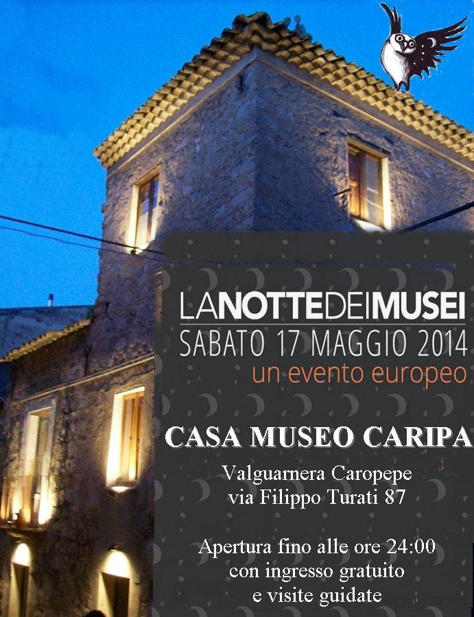 Casa Museo Caripa  Valguarnera Caropepe, Sicilia aderisce all'evento La Notte dei Musei 2014 #ndm14 #ndm14italia #NDM14 #valguarnera