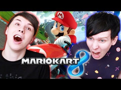 Dan vs. Phil - Mario Kart 8 - Oh who just finished the race with their face? (Raspberry sounds)
