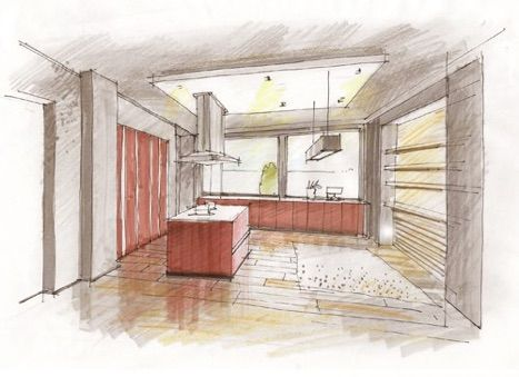 1000 id es sur le th me croquis d 39 int rieur sur pinterest dessins d 39. Black Bedroom Furniture Sets. Home Design Ideas