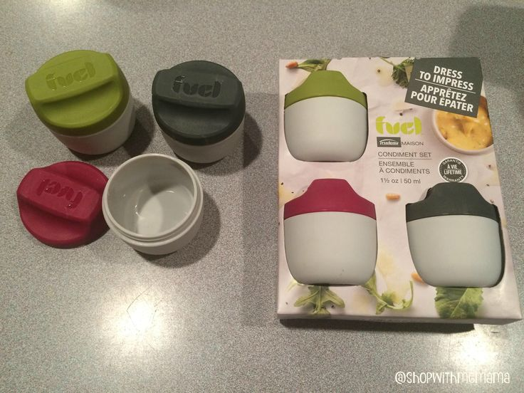 Food On The Go Containers For Work Or School! Keeps lunches from getting messy…