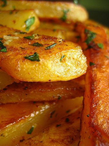 Roasted Spiced Potatoes - I'd like to try this as stovetop potato wedges, using the instructions from the America's Test Kitchen Best Vegetables cookbook.