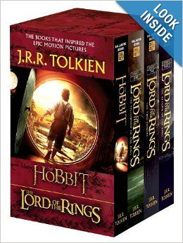 J.R.R. Tolkien 4-Book Boxed Set: The Hobbit and The Lord of the Rings (Movie Tie-in): The Hobbit, The Fellowship of the Ring, The Two Towers...