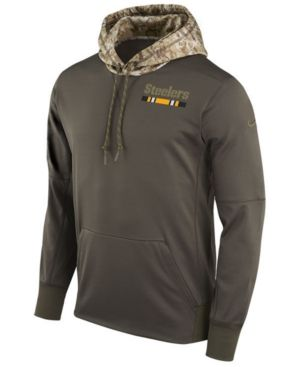 NIKE MEN'S PITTSBURGH STEELERS SALUTE TO SERVICE THERMA HOODIE. #nike #cloth #