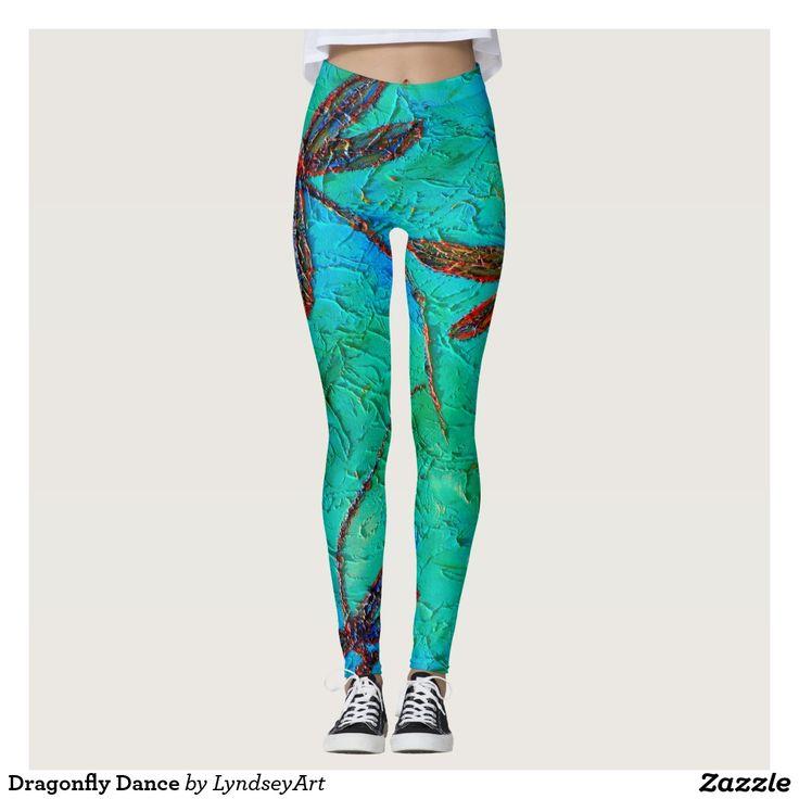 Dragonfly Dance, outrageously fun leggings! lyndseyART
