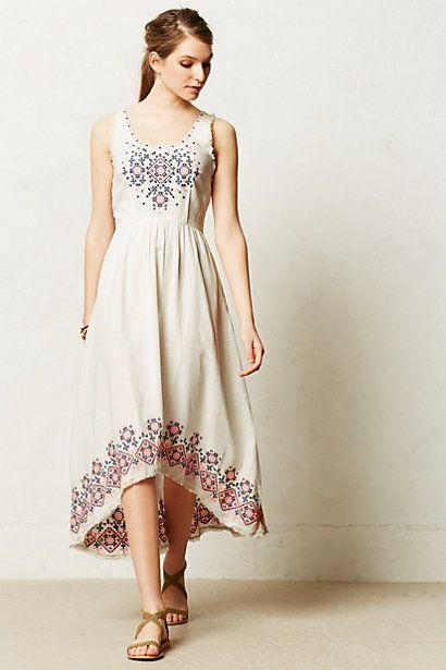 Cissie Embroidered Dress #anthropologie #anthrofave