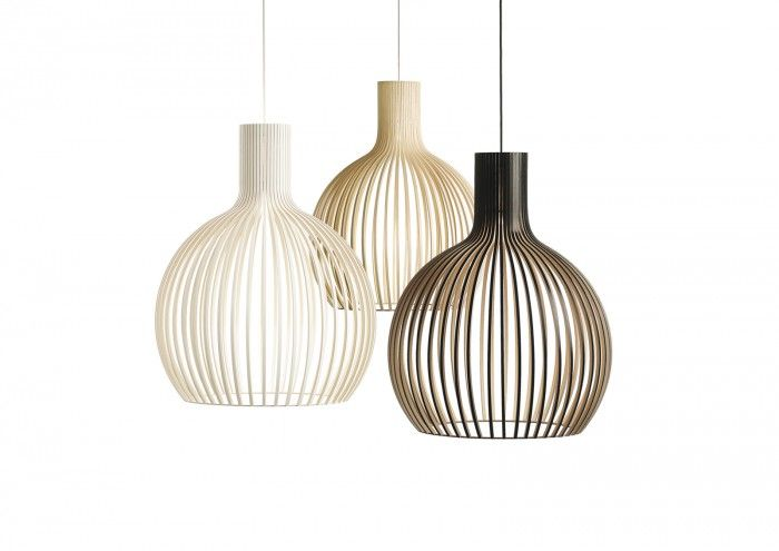 Scandinavisch design, ontwerper :Seppo Koho     (Octo 4240)  Ik weet dat Peggy open gewerkte lampen mooi vind. Ik niet. Deze vind ik toch wel aardig.