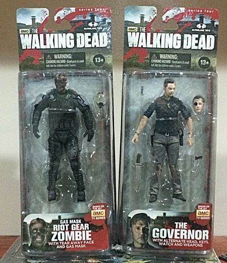 AMC Walking Dead Action Figure 2 Pack - The Governor & Riot Gear Zombie #McFarlaneToys