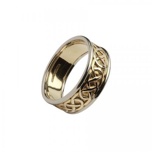 Cooley Knot Celtic Ring-10K Gold