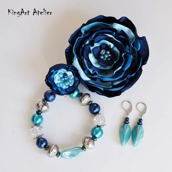 Turquoise & dark blue harmony (KingArt Atelier)