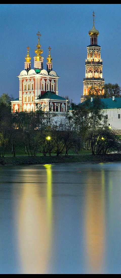 Novodevichy Convent, Moscow ~ Novodevichy Convent, Moscow ~ The Novodevichy Convent was founded in 1524 by Vasiliy III in commemoration of the conquest of Smolensk. It was built as a fortress at a curve of the Moskva River and became an important part of the southern defensive belt of the capital. The Novodevichy Convent is known to have sheltered many ladies from the Russian royal families and boyar clans, who had been forced to take the veil.