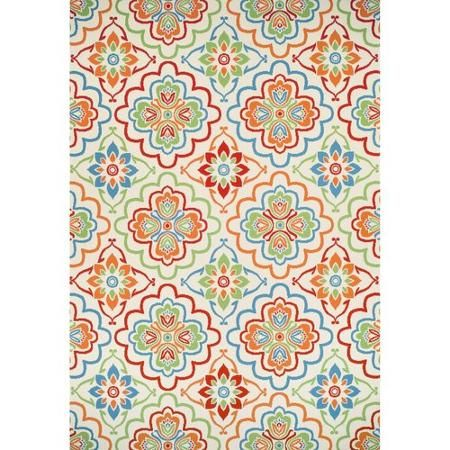 Better Homes And Gardens Bright Floral Trellis Indoor/Outdoor Rug