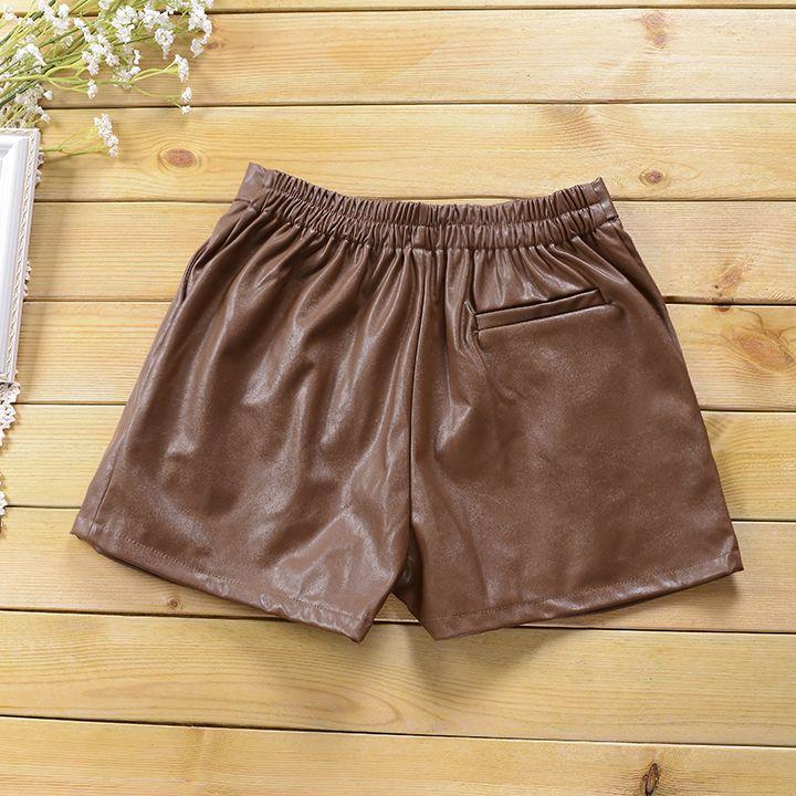 Зимние новый корейский свободные тонкие кожаные штаны PU женские большие ярдов упругие талии слово широкую ногу брюки женщина кожа прилив - Taobao