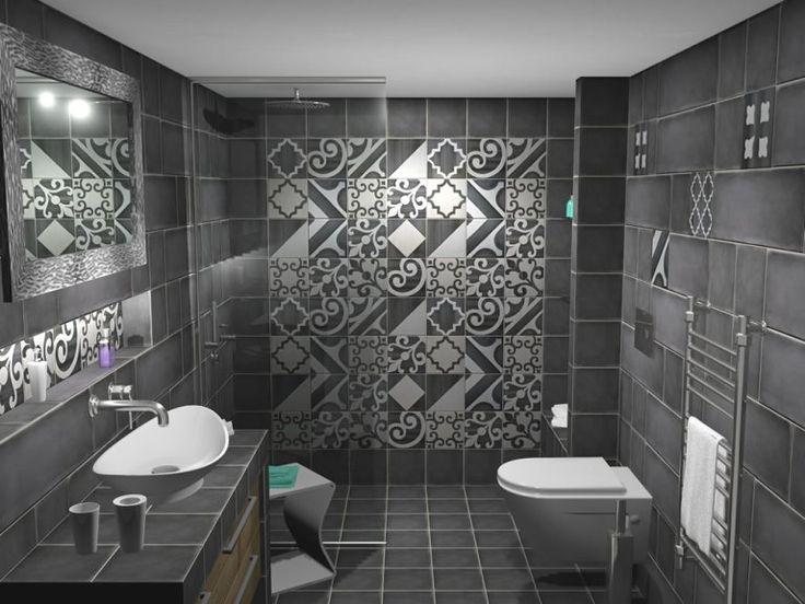 Όψη του μπάνιου από την είσοδο. Η ντουζιέρα οριοθετήθηκε από τον υπόλοιπο χώρο με διαχωριστικό κρύσταλλο ασφαλείας με πάχος 8 mm. Ιδιαιτερότητα της κατασκευής το ότι το κρύσταλλο εγκαταστάθηκε εως την οροφή του μπάνιου.