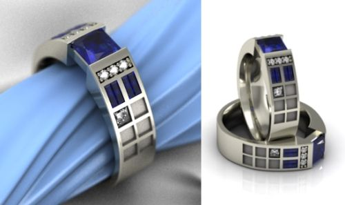 20 geeky rings. The title says they're engagement rings, but I don't think you need to be married or engaged to want some of these!