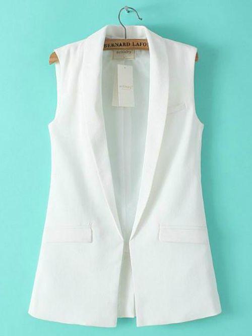 Wholesale Turn down collar solid stylish fashion vest MC-314071058 - Lovely Fashion