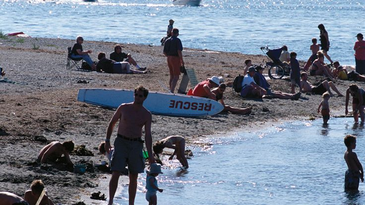 Visit Crescent Beach to swim, play volleyball, build a sand castle or walk the beachfront pathway.