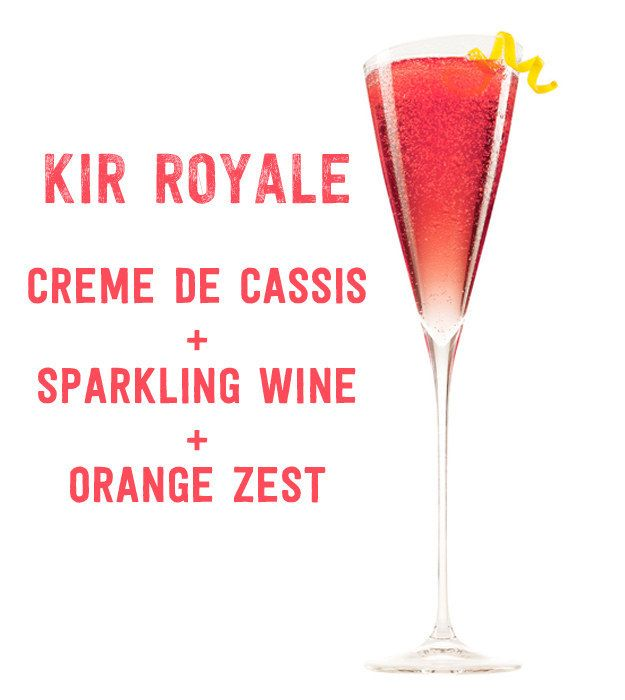 Kir Royale ~ 17 Three-Ingredient Cocktails You Should Know How To Make