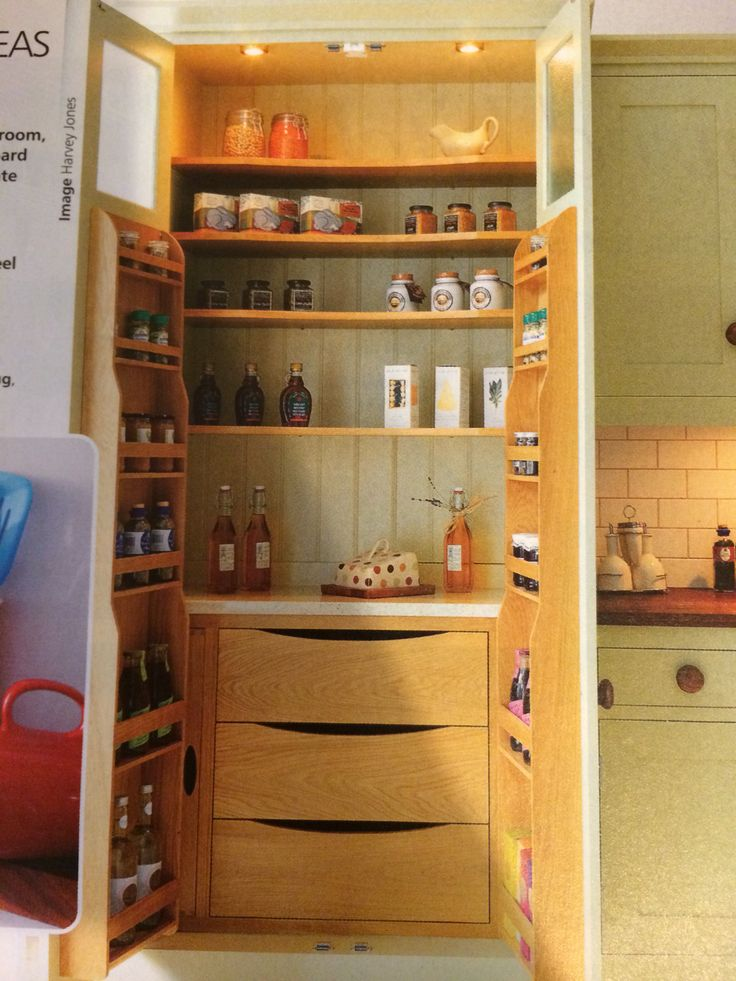 Pantry solution storage problems modern home design for Oak kitchen larder units