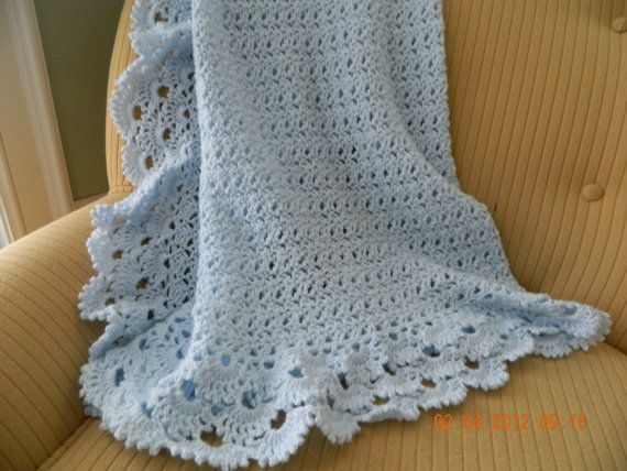 Crochet Pattern For Edging On Afghan : 1343 best crochet and knit baby blankets images on Pinterest