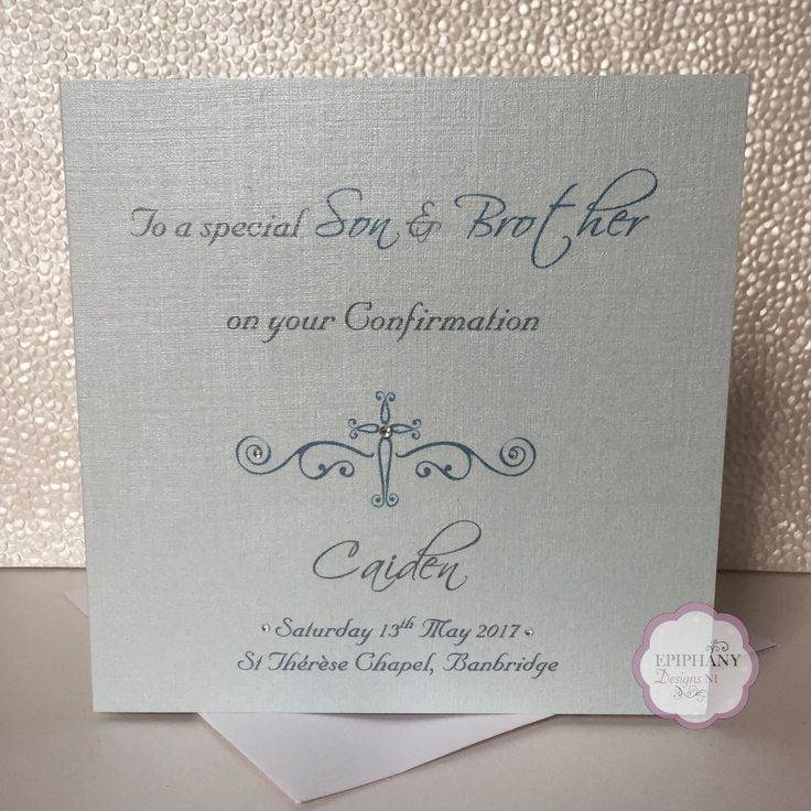 Luxury Personalised Confirmation\Communion Card