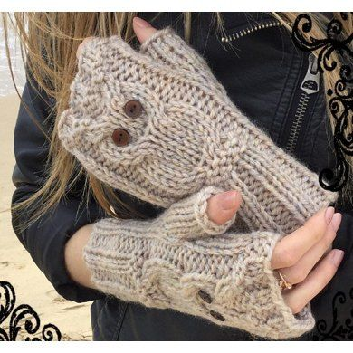 A simple and elegant design. These need to be made! They're s adorable! Perfect for keeping my hands warm on my trips back to Scotland too!