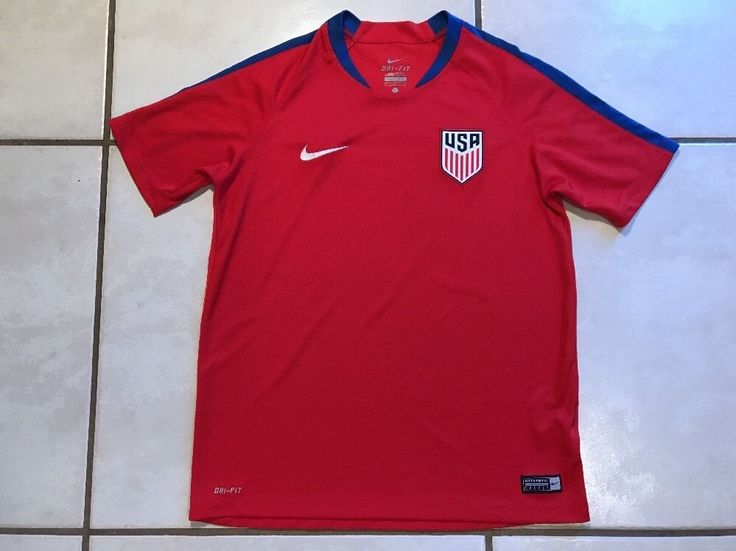 NIKE USA National Team RED Soccer Training Jersey Youth Large  | eBay