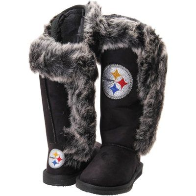 Pittsburgh Steelers Cuce Shoes Women's Victorious Boots - Black