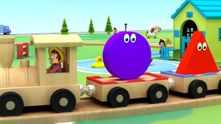 Shapes for children | shapes 3D train | 2d shapes | shapes song