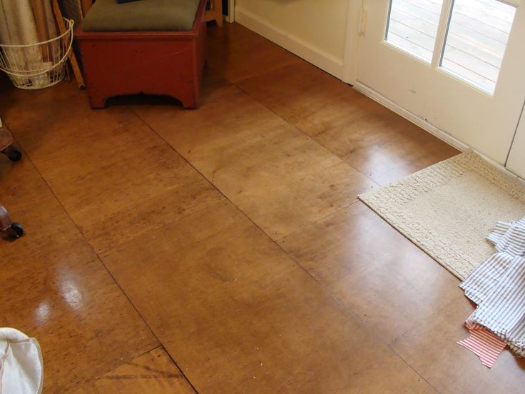 250 best plywood floor ideas images on pinterest stained for Inexpensive hardwood flooring