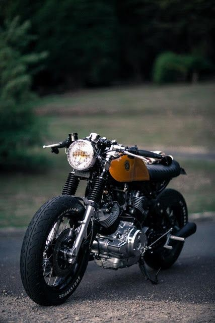 getexcitedanddrawcars:  Doc Chops Virago Cafe Racer. One of the...