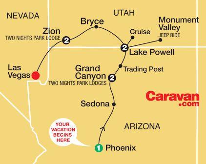 25 Grand Canyon Map Pinterest