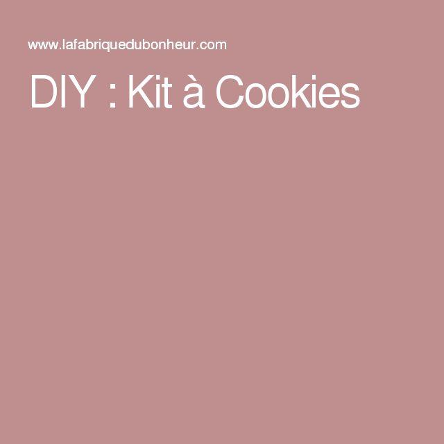 DIY : Kit à Cookies