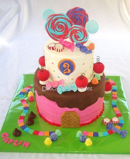 Candy Land Cake - by DeliciousDeliveries @ CakesDecor.com - cake decorating website