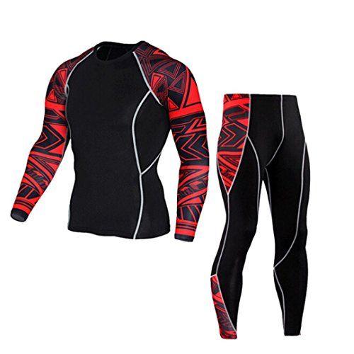 Chándal de otoño invierno hombres Amlaiworld Traje de deportiva hombres  Compresión Leggings Camuflaje Deportes Running Yoga 5ec3ed3ea553