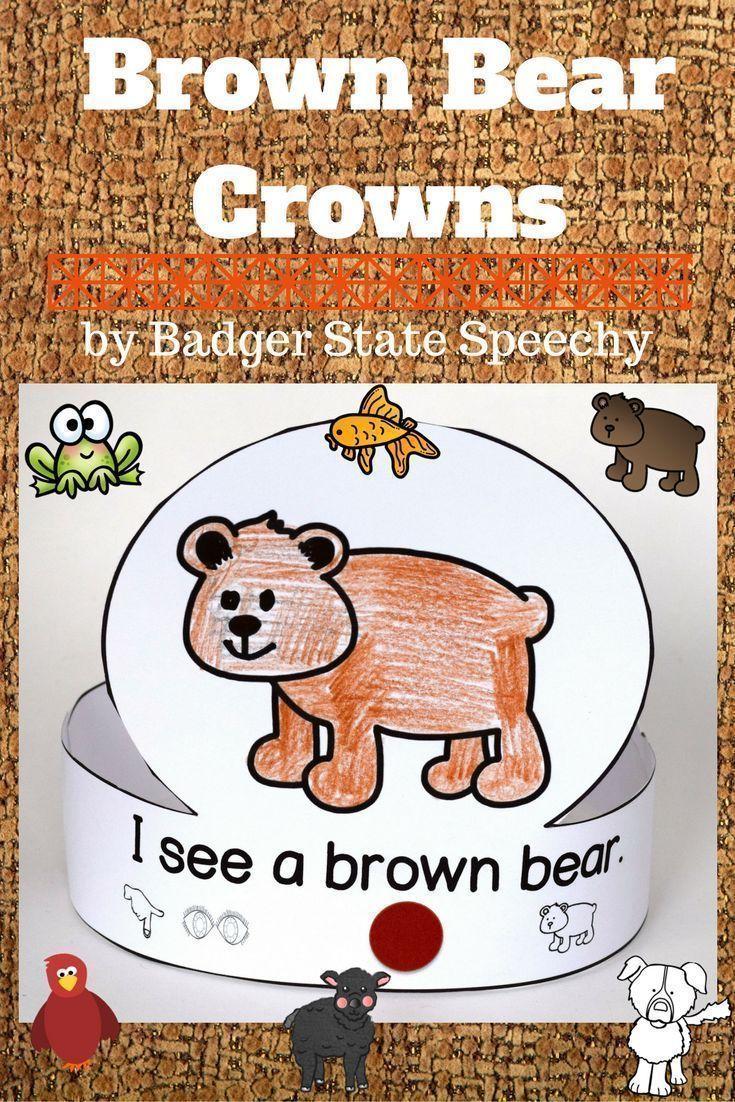 Brown Bear Brown Bear Book Companion Activity Crowns Brown Bear