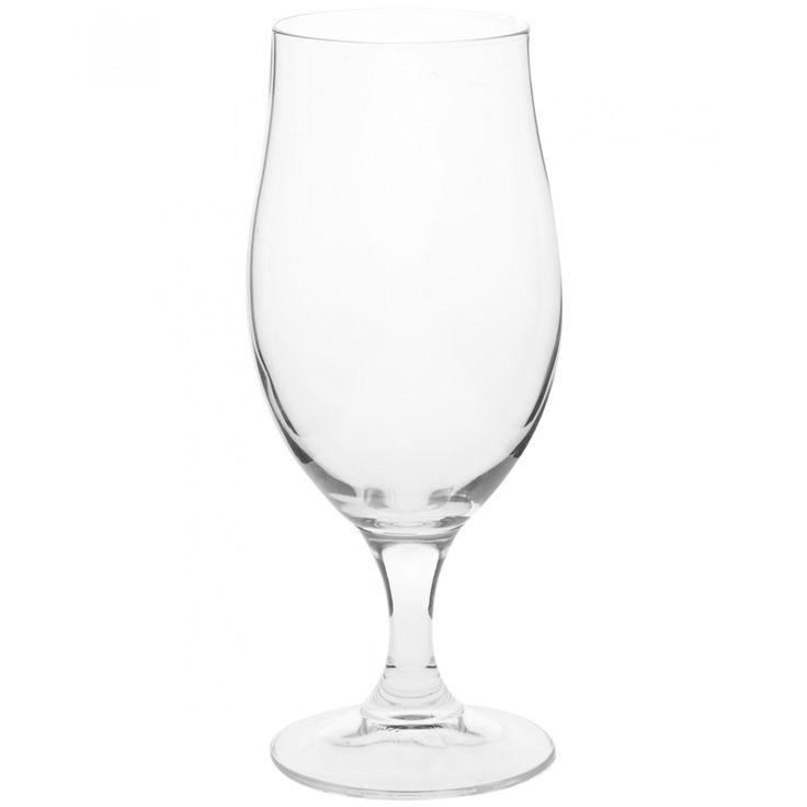 Copa para cerveza Bormioli Rocco de la colección Beer Club en forma de tulipán con una base de tallo robusto.