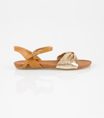 Sandalias mujer planas doradas